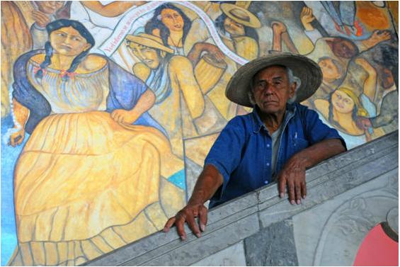 Melchor Pererdo, fotografía tomada de www.muralistasunidos.org